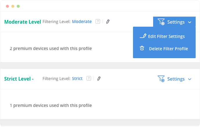 iscreenshot of multi-user family parental controls