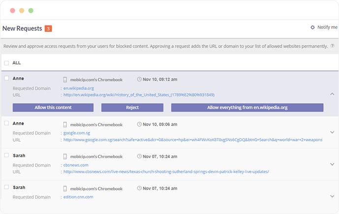 screenshot of Access Request